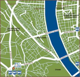 Budapest Hotel Mediterran Map